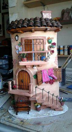 jossete huina martínez & # s # 859 media-inhoud en analyse , Miniature Crafts, Miniature Fairy Gardens, Miniature Houses, Miniature Dolls, Clay Fairy House, Fairy Houses, Tile Crafts, Clay Crafts, Art N Craft