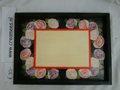 dienblad rozen, tray with roses, design Cathryn Wood, creamees