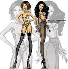 jovan rosario sketches - Beyoncé & Nicki