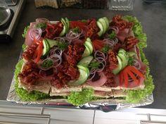 Sandwichtærte m/leverpostej & bacon
