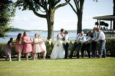 Amanda & Kaleb's tattooed lakeside wedding #SameSexWedding ❤