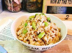 枝豆と塩昆布の混ぜご飯。の画像
