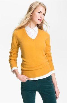 Halogen® V-Neck Cashmere Sweater | Nordstrom $79 FOR ARLETTE