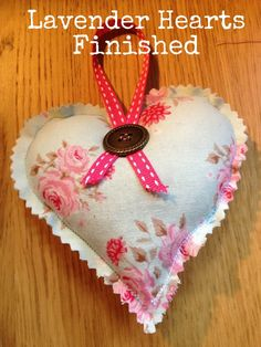 DIY Tutorial: Lavender Hearts