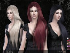 Stealthic - Eden (Female Hair) - The Sims 4 Catalog Sims 4 Mods, Sims 3, The Sims 4 Cabelos, Sims 4 Gameplay, Sims Hair, The Sims 4 Download, Sims 4 Update, Sims 4 Cc Finds, Sims Resource