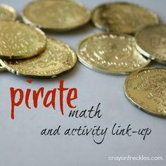 crayonfreckles: pirate math  activity and pirate-themed link-up #preschool