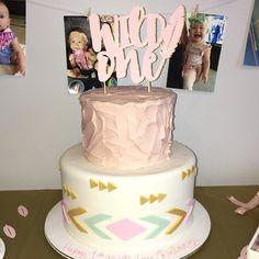 Trendy birthday cake baby girl one Ideas Girls First Birthday Cake, Wild One Birthday Party, Baby Birthday, First Birthday Parties, Birthday Ideas, Birthday Crafts, Birthday Bash, Birthday Wishes, 1st Birthdays
