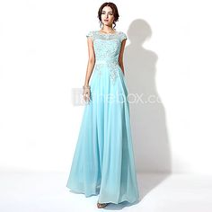 Formal Evening Dress - Grape / Sky Blue / Candy Pink Plus Sizes / Petite A-line Bateau Floor-length - USD $ 89.99
