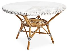 """Hally 47"""" Dining Table, White/Gray"""