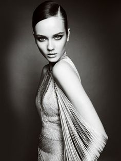 Monika Jagaciak for Atelier Versace Fall 2010