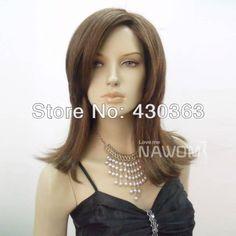 Light Brown Wig Medium Long Straight Wig Nawomi Wig Supplier