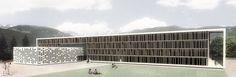 Laboratorio di Architettura — Convitto per alunni con una mensa a Malles