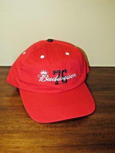 Budweiser 76 Red Blue Anheuser Bush Baseball Style Cap One Size Hat (N) c6add4c3e7c