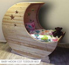Moon Cot by MudPutty on Etsy, £350.00