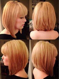 Medium Blonde Bob Hairstyles with Bangs