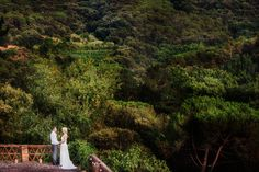 Helen and Damian's luscious green wedding in Catalonia's incredible landscape. Photo by Rare Pulberes