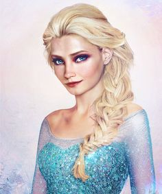 Queen Elsa from Disney's Frozen movie, as painted by artist Jirka Väätäinen who went viral last year thanks with his real life themed portraits of Disney princesses. blending digital painting with actual photo manipulation. Disney Princess Drawings, Disney Princess Art, Frozen Princess, Prince And Princess, Disney Drawings, Realistic Disney Princess, Frozen Queen, Drawing Disney, Prince Eric