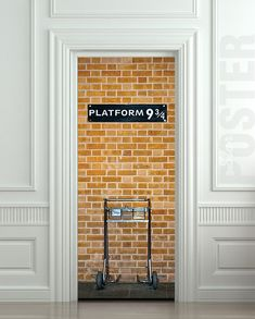 Wall Door STICKER harry potter