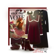 """""""Rock the Vote - Velvet Love"""" by giovanina-001 ❤ liked on Polyvore featuring Dolce&Gabbana, Yves Saint Laurent, Chanel, Chloé, LULUS, Mulberry and WALL"""