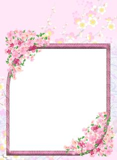 Pink Transparent Flowers PNG Photo Frame