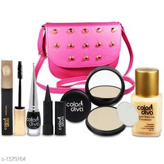 Makeup Kits Standard Choice Makeup Products Product Name: Special For Beautiful Girls Makeup Combo Set With Stylish Sling Hand Bag Pack of 6 GC547 Product Type: Makeup Kit Description: It Has 1 Pack Of Makeup Combo Kit Country of Origin: India Sizes Available: Free Size   Catalog Rating: ★4 (5174)  Catalog Name: makeup kit Premium Choice Makeup Products Vol 15 CatalogID_178218 C51-SC1245 Code: 282-1379164-4112