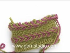 How to knit a Latvian braid - YouTube