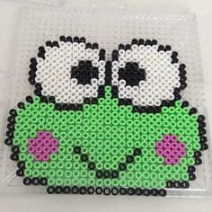 Keroppi Sanrio perler beads by perler_bead_ideas