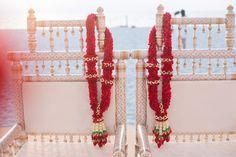Vermala#Redflower#redgarland#indianweddinggarland#wizkimweddingbybic