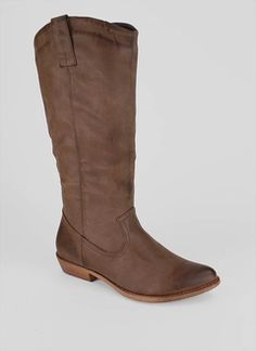b98bb25d9f1 western style leatherette boot