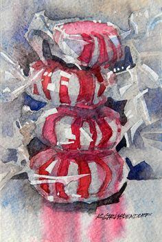 Peppermint series (owned by Tom Howard) watercolor by Kristi Grussendorf.