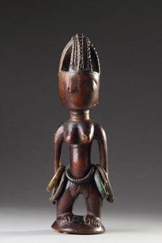 Yoruba Finely Carved Female 'Ere Ibeji' Figure - The Association of Art and Antique Dealers - LAPADA