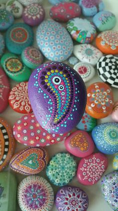 Painted stone | by glinsterling