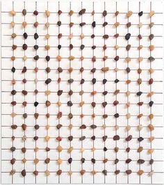 Lezlie Tilley, '195 pieces of gravel arranged according to the laws of chance' 2013, rocks and pen on paper (framed), 16 x 14cm - paper size