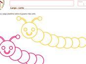 Largo corto lógico matemática años Preschool Writing, Fine Motor, Activities