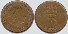 Dutch coin 5 cent 1980