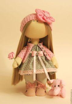 Коллекционные куклы ручной работы. Ярмарка Мастеров - ручная работа. Купить Горошинка. Handmade. Розовый, интерьерная кукла, подарок девушке