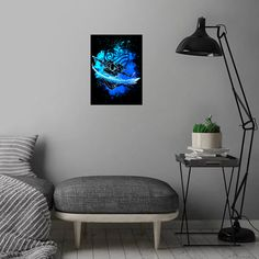Green Moon Planet detailed, premium quality, magnet mounted prints on metal designed by talented artists. Our posters will make your wall come to life. Green Moon, Internet Art, Nature Posters, Marble Painting, Blue Poster, Poster Prints, Art Prints, Abstract Watercolor, Blue Abstract