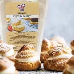 Depending on who you ask, Choux Pastry is either super easy or insanely difficult to make. With CAB Foods Choux Pastry Premix there's no need to worry, because we've done all the work so you can have all the enjoyment with very little effort. #CABFoods #cookingandbaking #baking #chouxpastry #choux #creampuffs #creampuff #newproducts