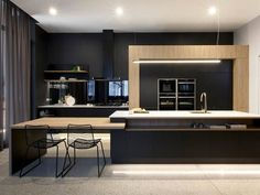 Could this kitchen be any more #chic? That black paint with one of our newest colors, Cosmopolitan White, and a gold faucet. Wow. @freedom_kitchen on #Australia's renovation show, The Block! #kitchenrenovation #modernkitchen #goals
