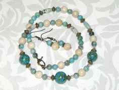 Hey, I found this really awesome Etsy listing at https://www.etsy.com/listing/159624238/turquoise-and-river-rock-necklace-and