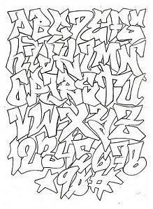 tipos de letras abecedario,abecedario,graffiti
