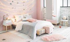 Incroyable Apaisante Et élégante, Associer Le Gris Et Le Rose Dans Une Chambre De Fille  Est