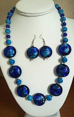 Check out this item in my Etsy shop https://www.etsy.com/listing/502593315/blue-silver-glass-beaded-duo-set