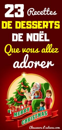 23 RECETTES DE DESSERTS DE NOËL QUE VOUS ALLEZ ADORER French Christmas, Christmas Baking, Christmas Time, Xmas Food, Cooking Chef, Gourmet Recipes, Xmas Recipes, Allrecipes, Food Inspiration