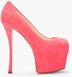 GUISEPPE ZANOTTI Pink Peeptoe Platform Liza Heel