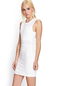 Perforated Knit Dress | FOREVER21 - 2000084070