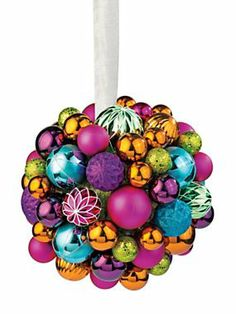 Jewel-tone Ball Giant Ornament | Solutions