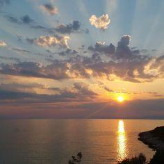 #sunset #beautiful #sun #clouds #sky #view #greece #greecelife Sky View, Greece, Weather, Clouds, Celestial, Sunset, Photography, Outdoor, Life