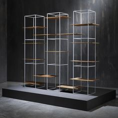 TT shelves and table with floating surfaces by Ron Gilad | design