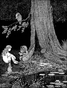 """You must do it for the sake of us all!"" Illustration by Ida Rentoul Outhwaite from 'The Little Green Road to Fairyland' (1922)"